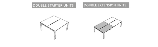 Bench desk units