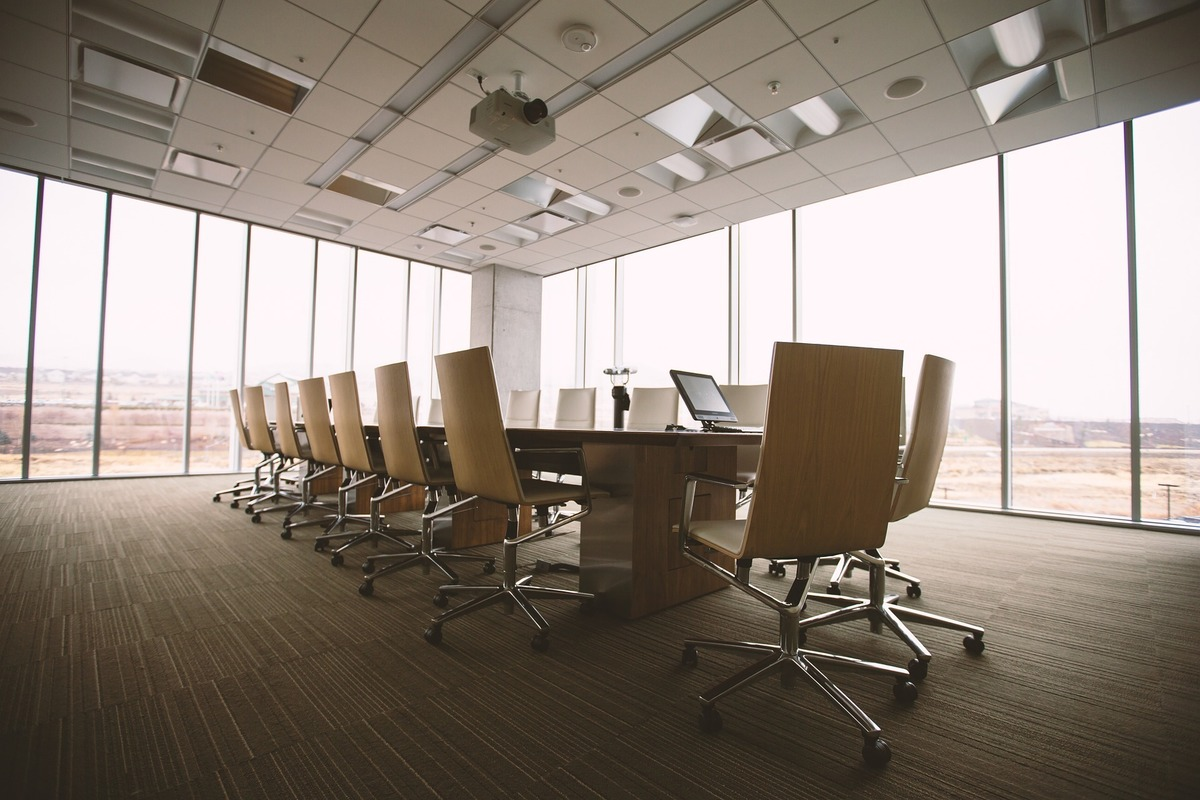 Modern Conference Room equipped with Used Office Furniture