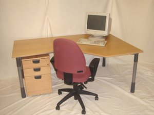 GET A WORKSTATION PEDESTAL AND CHAIR FOR JUST pound175VAT