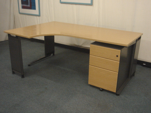 Light oak radial desks