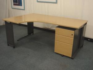 Light oak radial desks