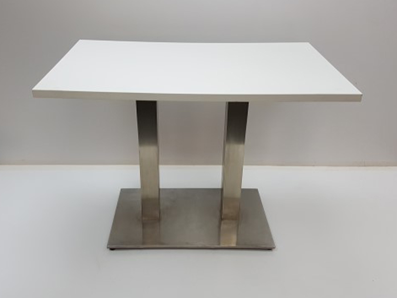 1000x600mm white double upright table
