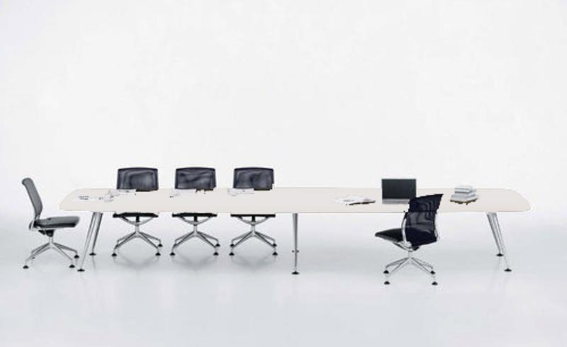 5000x1400mm white Vitra MedaMorph boardroom table