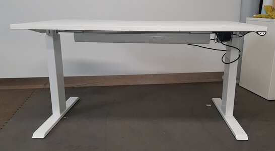 1400mm Electric Sit/Stand White Desks