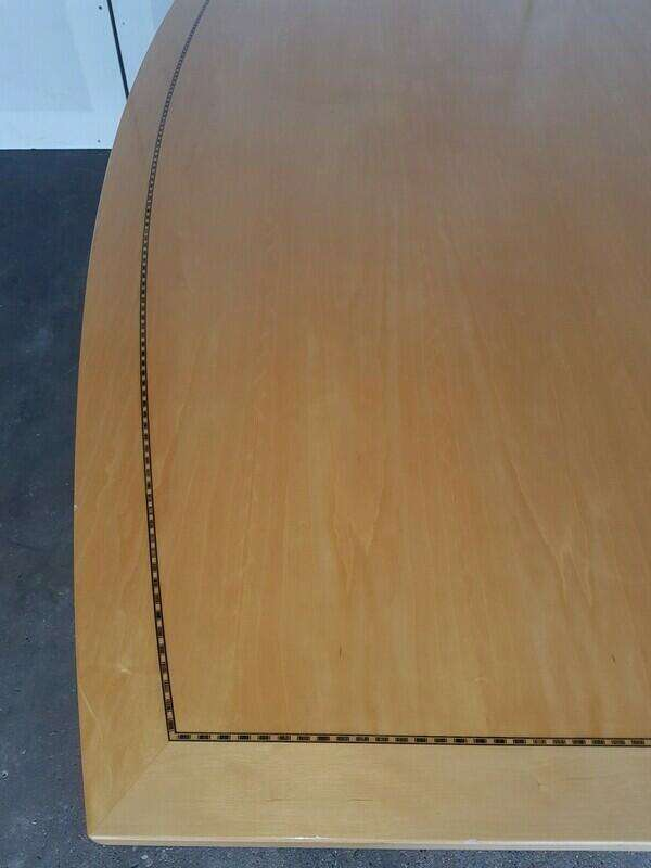 4500 x 1350mm Tula boat shaped Boardroom table