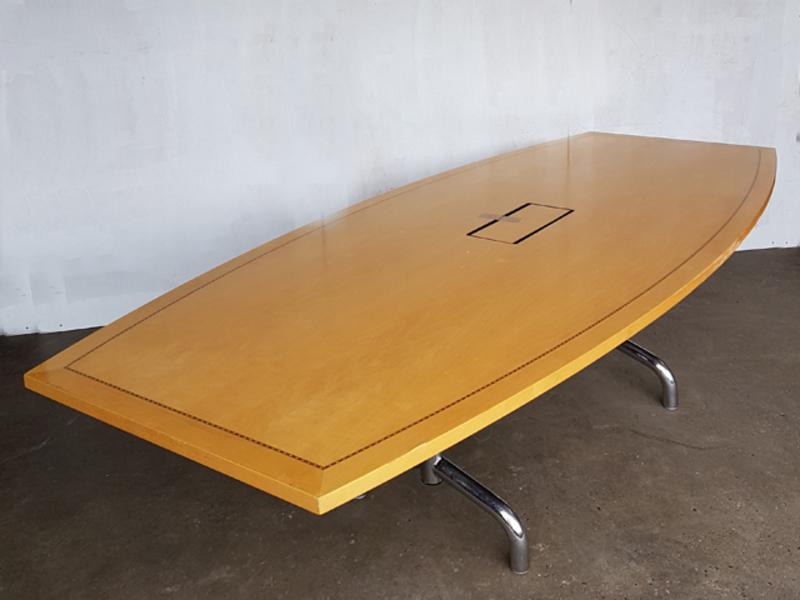 3600 x 1350mm Tula maple veneer barrel shape table CE