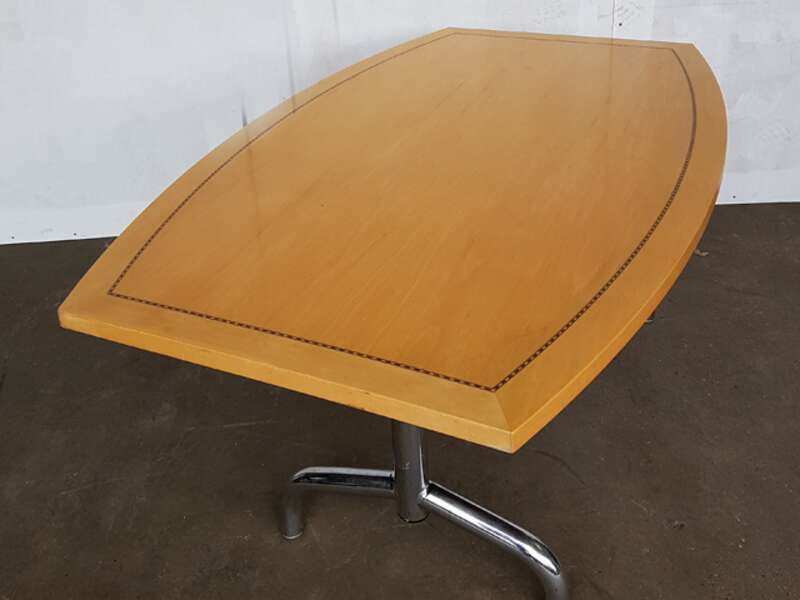 2400 x 1350/900mm Tula maple veneer barrel shape table
