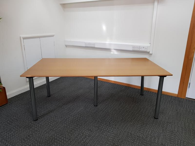 2000 x 1000 mm lacquered MDF meeting/ work table