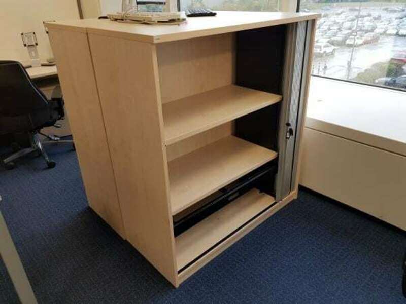 1240mm high maple tambour cupboards