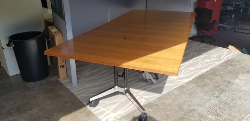 2400mm x 1200mm Wilkhahn Confair mobile folding tables