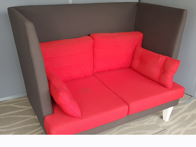 EFG MySpace 2 seater redgrey acoustic sofas