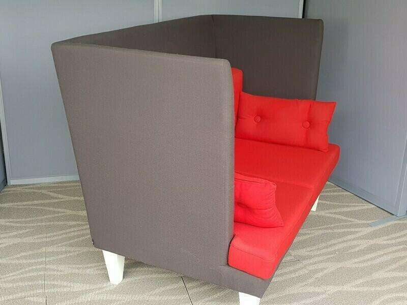 EFG MySpace 2 seater red/grey acoustic sofas