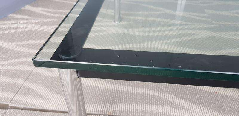 Le Corbusier Clear Glass Coffee Tables