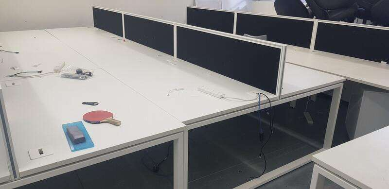 Imperial iBench white 1400x800mm bench desks