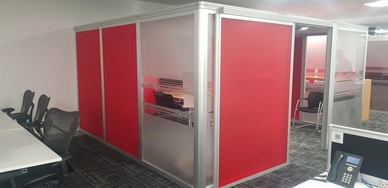 4400x4100mm red Orangebox Air3 meeting pod