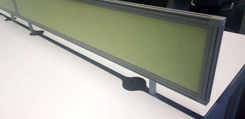 Techo Platform white 1600mm bench desks