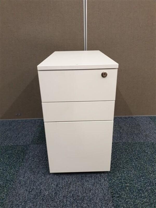 White MDF slimline pedestal