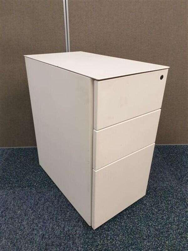 Cream metal slimline pedestal
