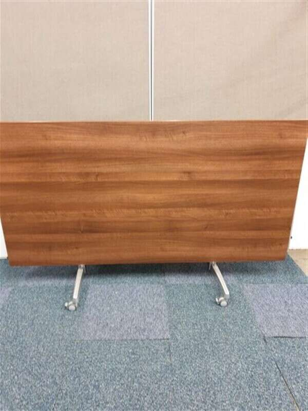 Dark walnut flip top meeting room table