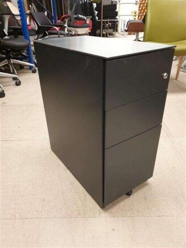 Graphite Slimline Pedestal Metal