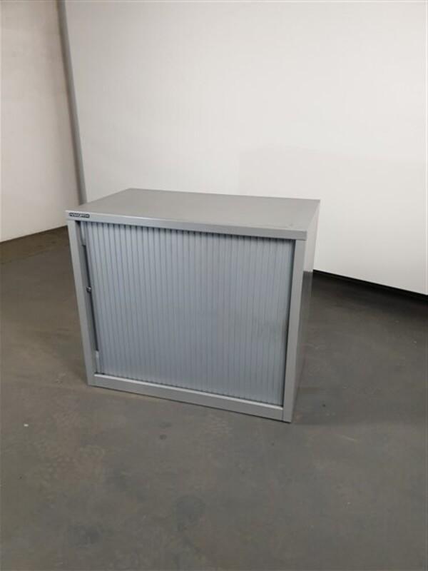 Haworth Grey Metal Single Door Sliding Cupboard