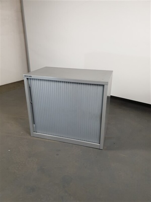 Haworth Grey Metal Single Door Sliding Cupboard