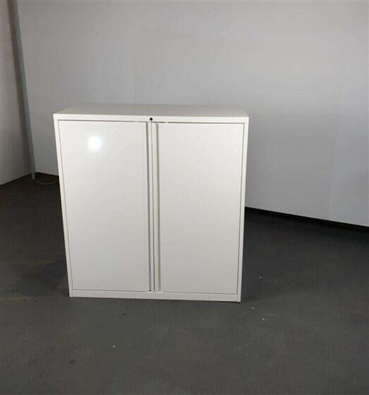 White Metal Cupboard