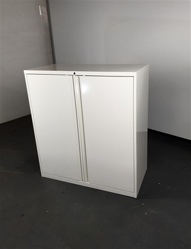 White Metal Cupboard