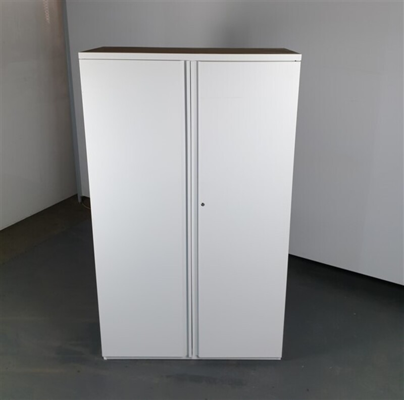 Metal White Tall Cupboard