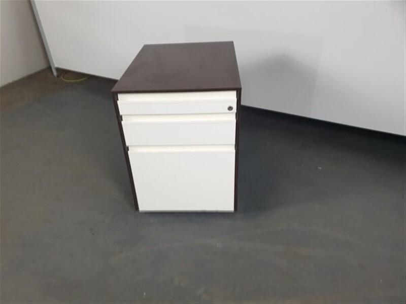 Walnut amp White Metal Pedestal