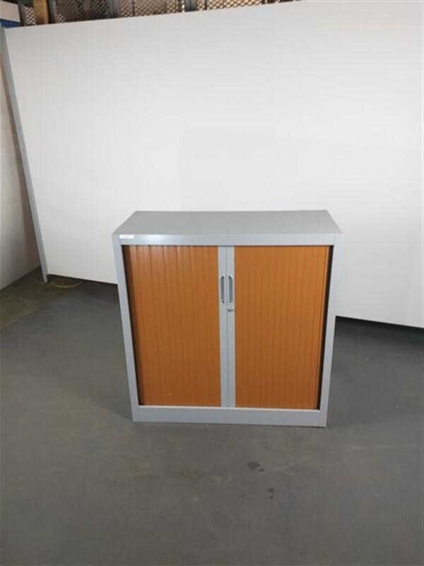 Grey Metal Cherry Doors Tambour 1020h