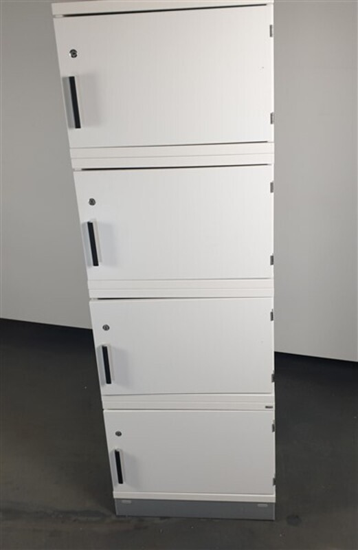 White Wooden Lockers