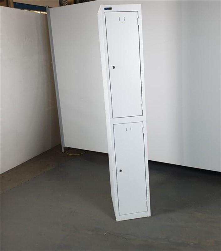 Silverline Lockers White Metal