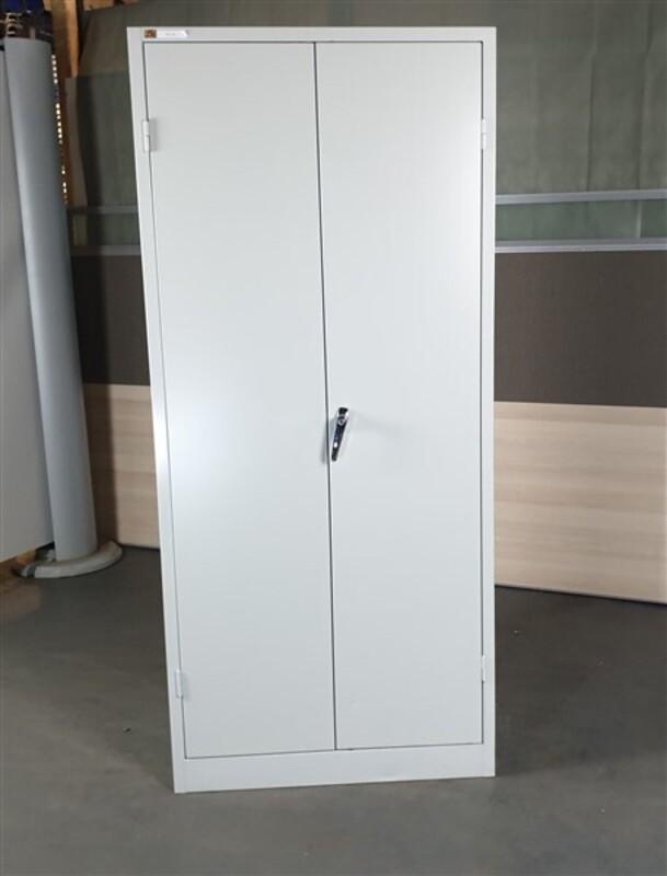 AJ Grey Metal Tall Cupboard
