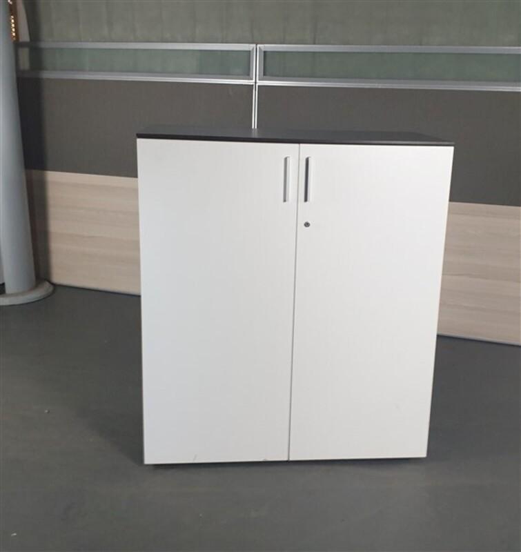 Walnut Surround & White Door Cupboard