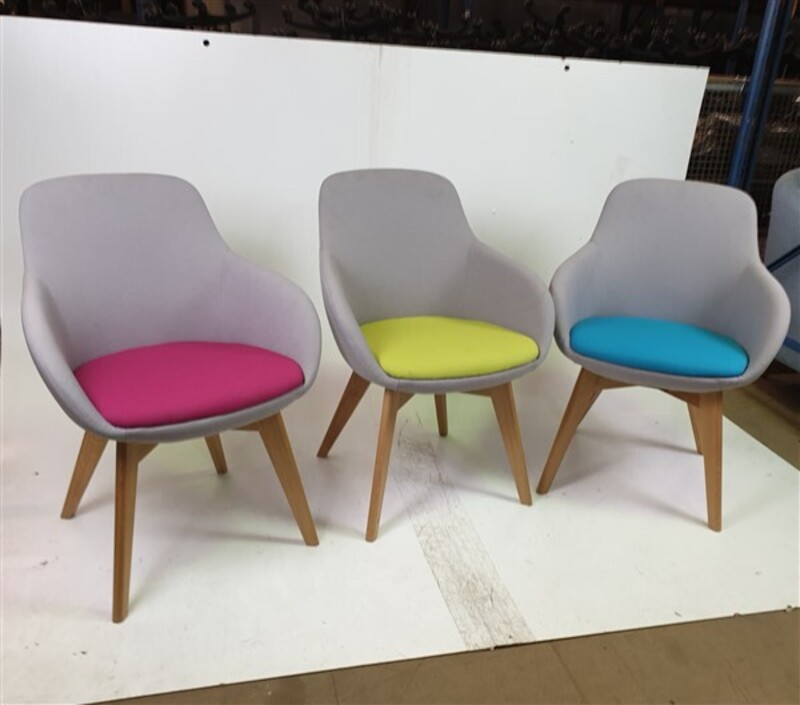 Verco Light Grey Fabric Chair 3 Colour Seats