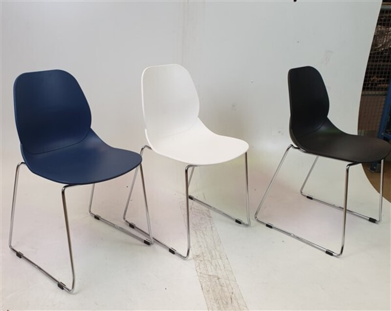 Mixed Colour Stackable Plastic Chairs