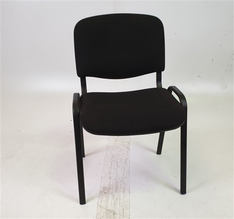 Black Fabric Stackable Meeting Chair