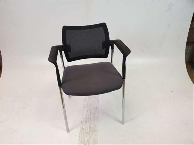 Dark Grey Mesh Back Fabric Seat