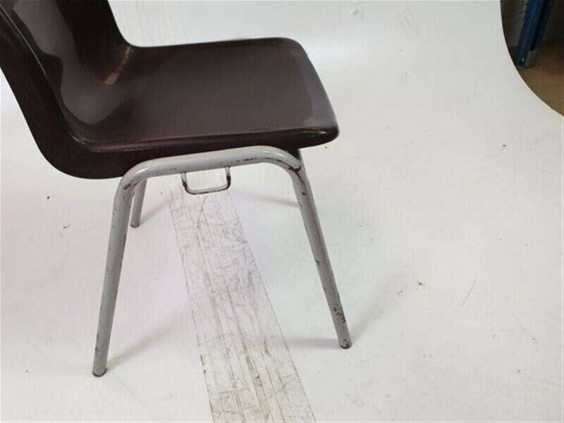 Brown Stackable Plastic Chairs