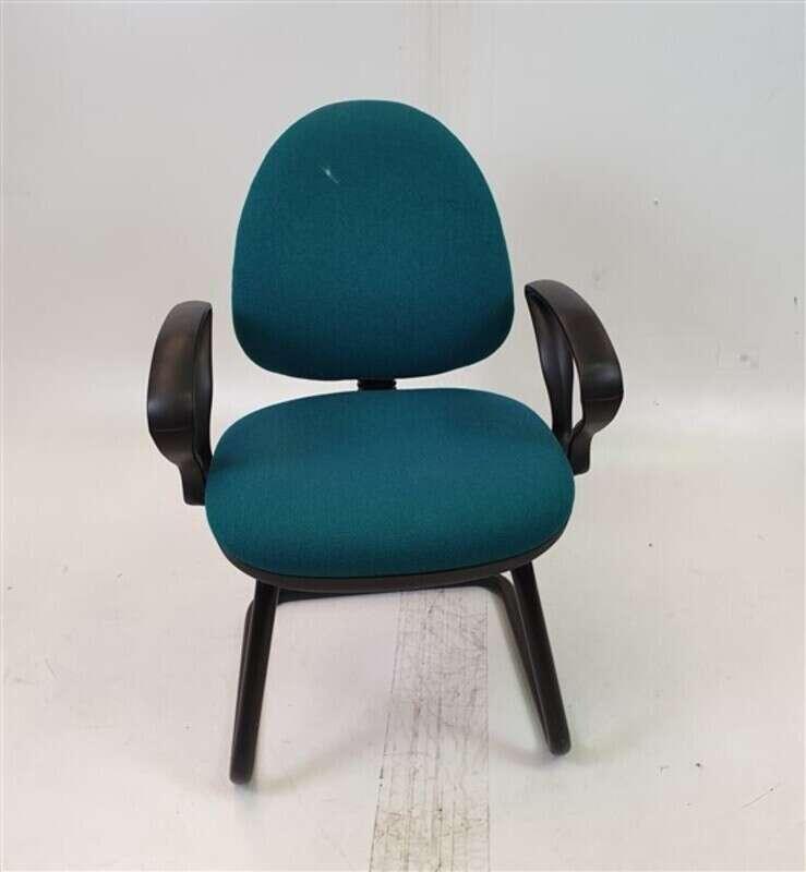 Green/Aqua Fabric Meeting Chair