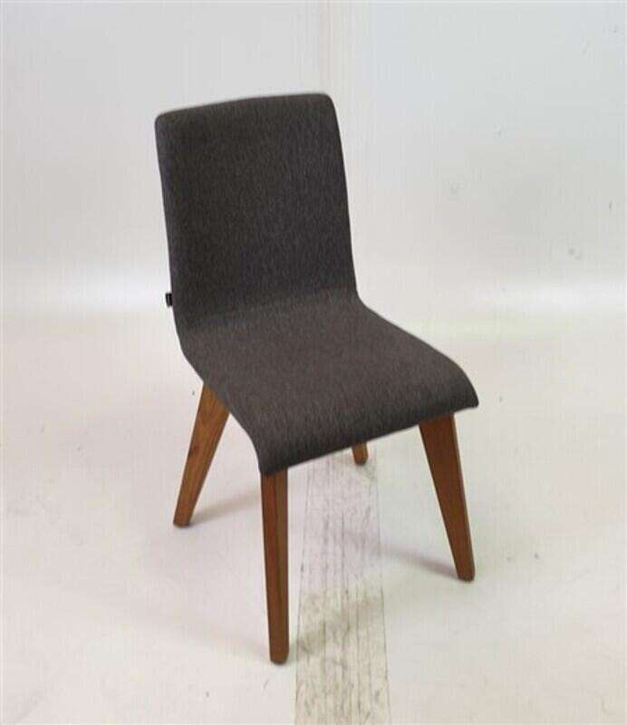 Frovi Grey Fabric Chairs Oak Legs