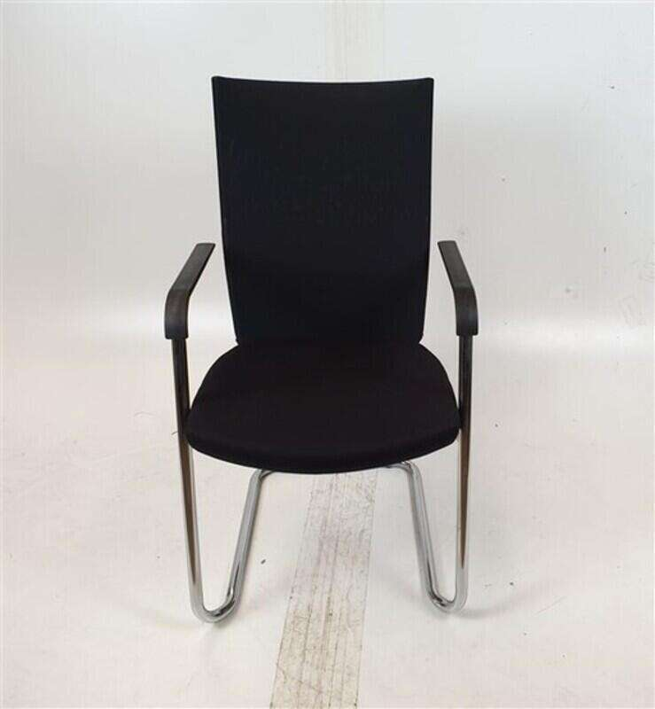 Black Fabric Back & Seat Meeting Chair