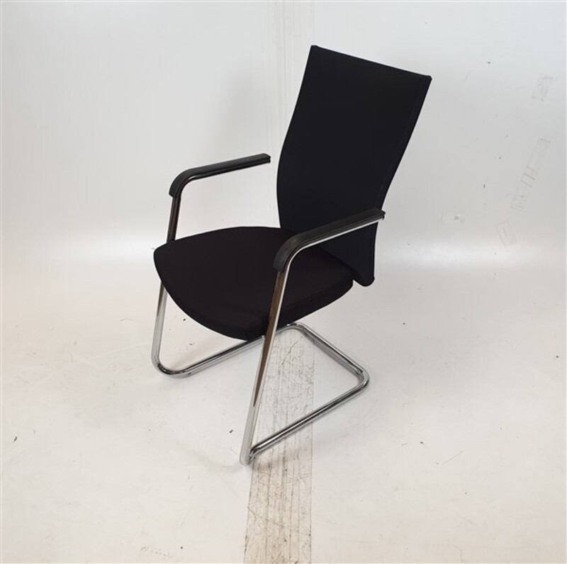 Black Fabric Back amp Seat Meeting Chair