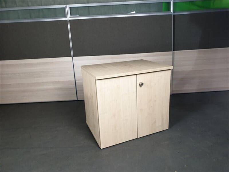 Maple Wooden Desk High Cupboard