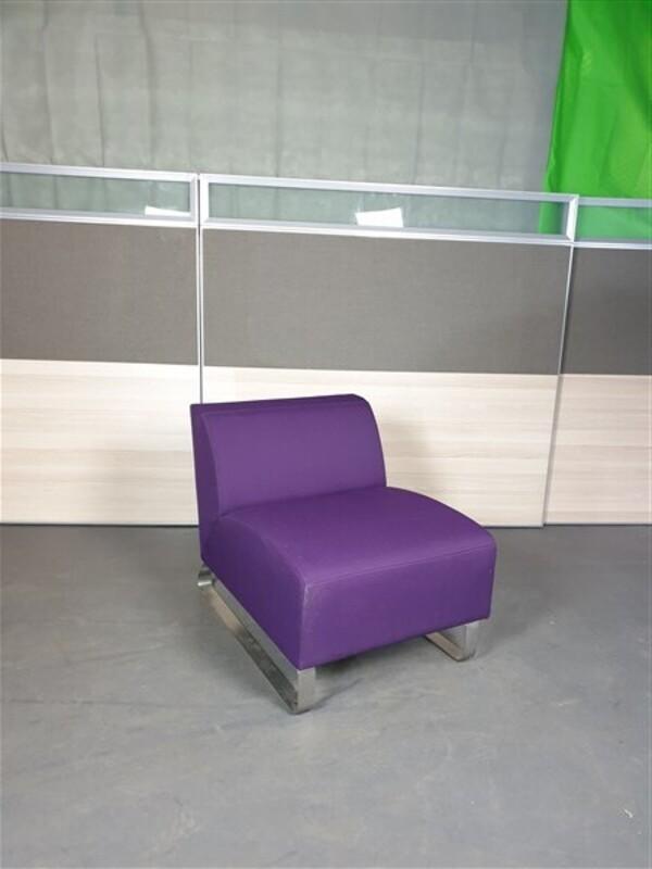 Mauve modular sofa unit