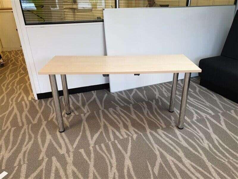 Sven Maple Top Table Chrome Legs