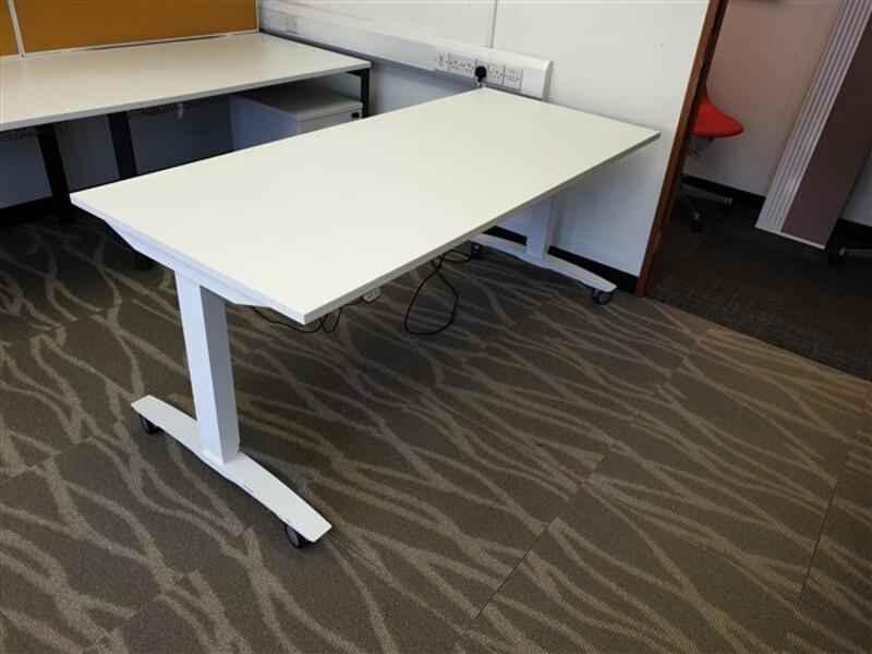 White OMT Height Adjustable Desk