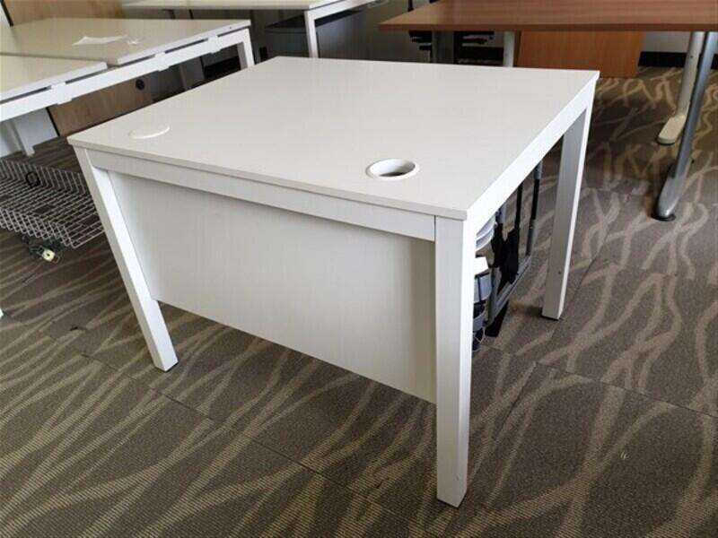 White Top Desk Metal Legs