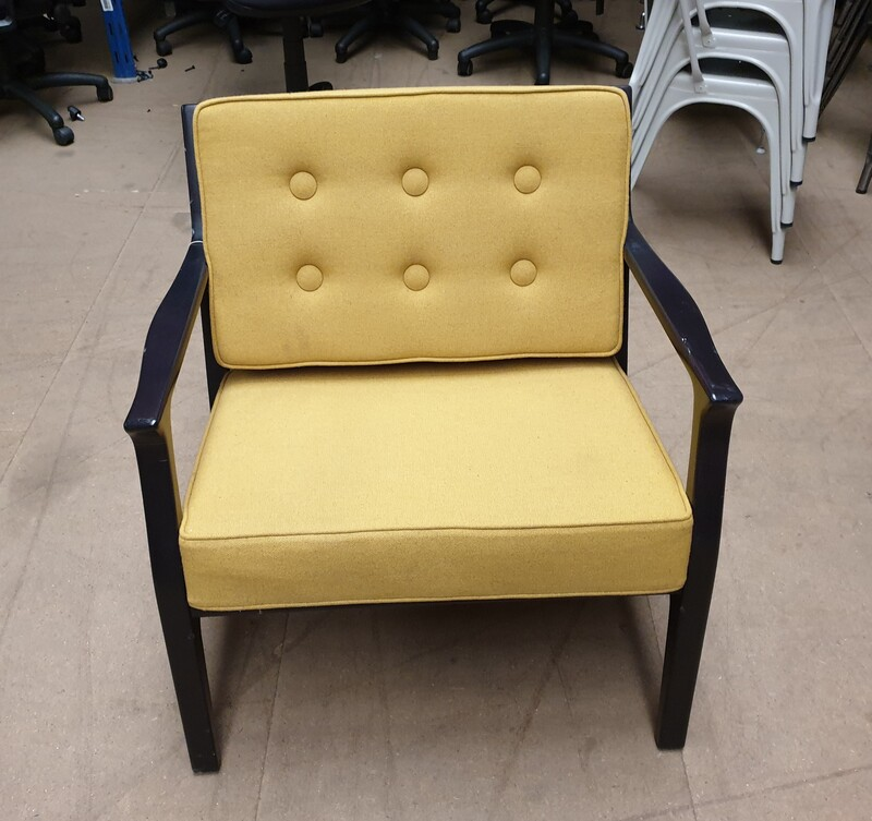Low mustard chair